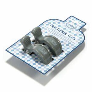 La Millou 2 Pack Multitask Clips Grey