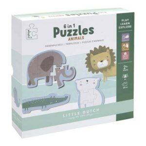 Little Dutch Puzzle Zoo-6 elementów LD4443