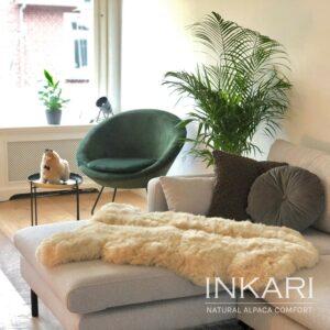 Inkari Dywan, Narzuta Blond z Alpaki Handmade